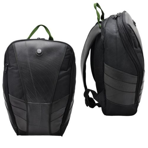 Gustavo laptop backpack from tyre tube army green