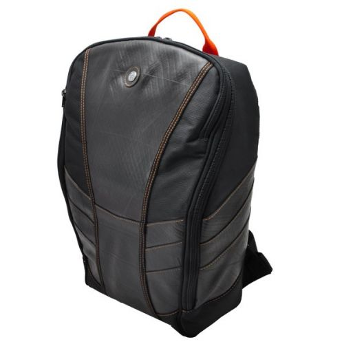 Gustavo laptop backpack from tyre tube orange