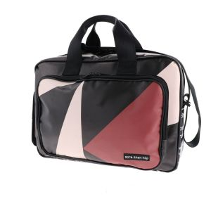"Spacious 15.6"" laptop bag from recycled billboards - Caz"