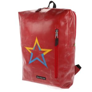 17 inch laptop backpack of recycled truck tarp - Stockholm