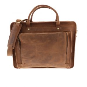Briefcase of eco leather with 15.6 inch laptop compartment