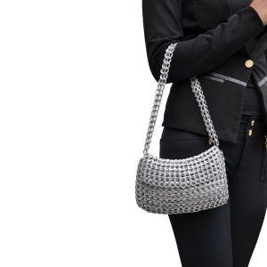 Angela handbag from recycled ring pulls