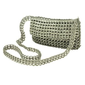 Angela shoulderbag from recycled ring pulls
