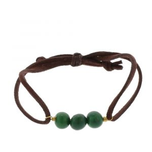 Paulina bracelet with acai seeds - green