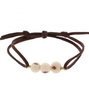 Paulina bracelet with acai seeds - creamy white