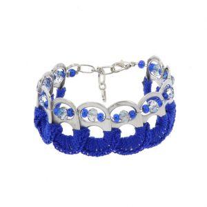 Esperanza bracelet from ring pulls - blue