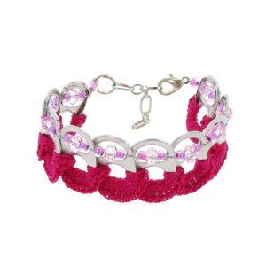 Esperanza bracelet from ring pulls - fuchsia
