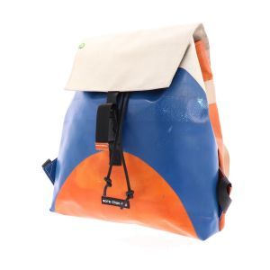 Spacious backpack made from recycled truck tarp - Hamburg