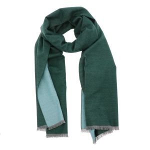 Super soft wide shawl or wrap made of bamboo WuWen - green