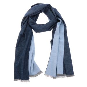 Super soft wide shawl or wrap made of bamboo WuWen - blue