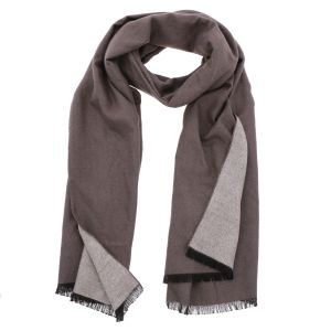 Super soft wide shawl or wrap made of bamboo WuWen - taupe/cream