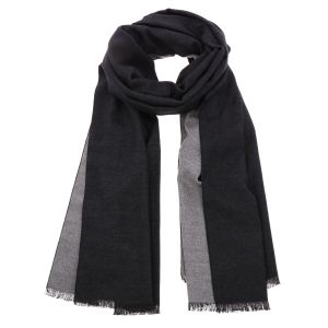 Super soft wide shawl or wrap made of bamboo WuWen - black/grey