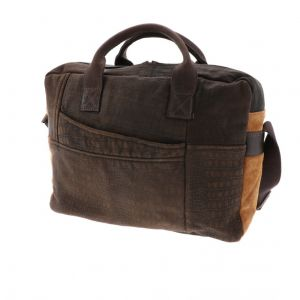 Basta - work bag from recycled leather jackets