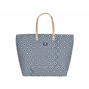 Large canvas shopper or beach bag - Florida blue/white