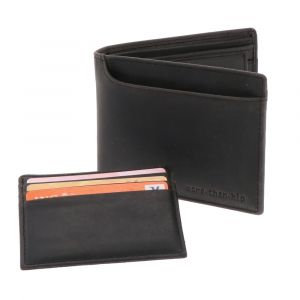 RFID luxury men's wallet from eco-leather - Luton brown vintage