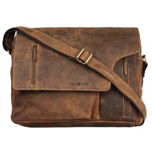 Boston - large shoulder bag of vintage eco-leather