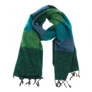 Soft and warm shawl or wrap. Handmade in Nepal. Does not itch :-)