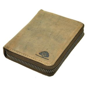 Tucson - zippered wallet of vintage brown leather