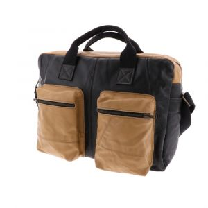 Camello - work bag from recycled leather jackets