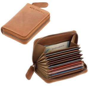 RFID card holder or credit card holder eco leather - Miami with vintage look & feel