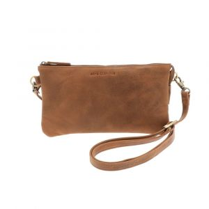 small trio shoulder bag in vintage brown eco leather - Lucy