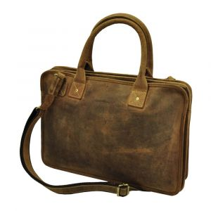 "Virginia - elegant ladies 15,6"" laptop bag of vintage eco leather"