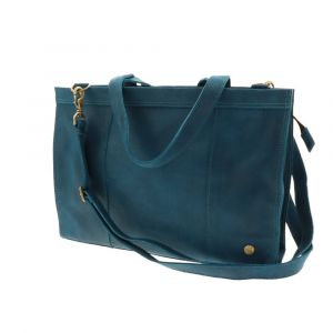 Elegante - 14'' eco leather laptopbag - petrol blue