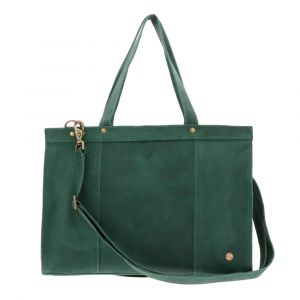 "Elegante - 14"" eco leather laptopbag - sea green"