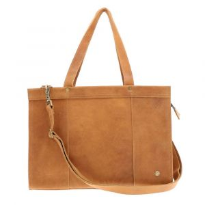 "Elegante - 14"" eco leather laptopbag - honey brown"