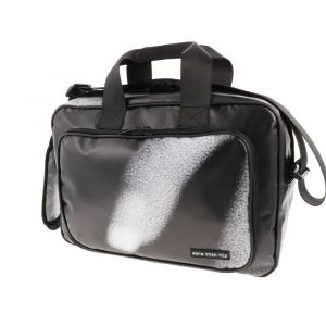 Strong 15.6 inch laptop bag from recycled banner tarps