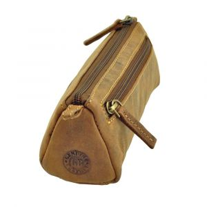 Nelson - pouch of brown vintage leather