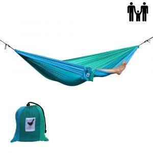 Double (travel) hammock Shades of grey - black with 2 shades of grey