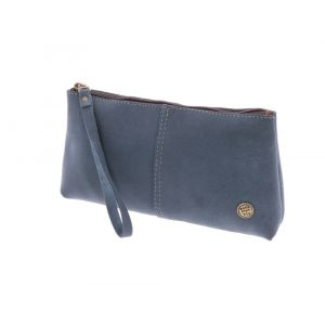 Large pouch or clutch  eco leather - Fiësta grey blue
