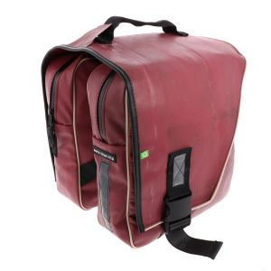 Luxury double pannier made of reused truck tarpaulin - Rotterdam