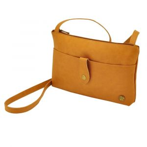 Fiji - nice shoulder bag made of high quality PU leather - brown