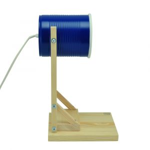 Iliui - Table lamp from recycled can -  navy blue