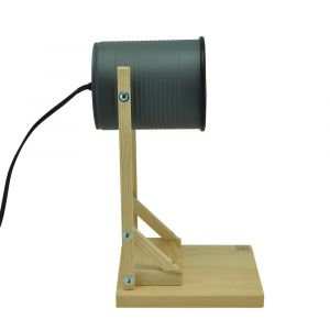 Iliui - Table lamp from recycled can - grey