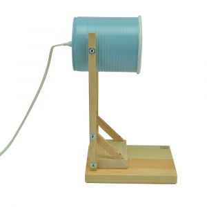 Iliui - Table lamp from recycled can - pastel blue