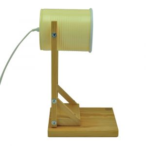 Iliui - Table lamp from recycled can - pastel yellow