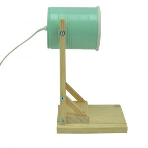 Iliui - Table lamp from recycled can - pastel green