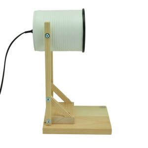 Iliui - Table lamp from recycled can -  white