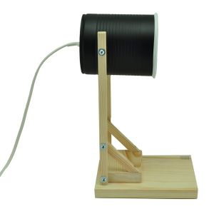 Iliui - Table lamp from recycled can -  black