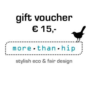 gift voucher eco & fair design