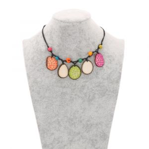 Girasol adjustable tagua necklace - multicolour
