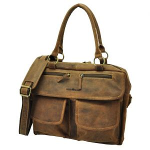 Abilene - stylish brown leather ladies workbag