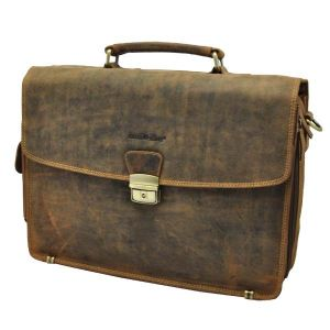 Luxury leather laptop bag/briefcase 15.4 inch - Montana