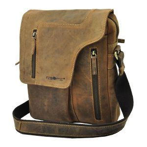 Santa Fé - brown leather shoulder bag with vintage look