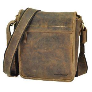 Colorado - brown leather shoulder bag with vintage look