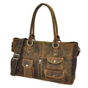 Wichita - sturdy brown leather ladies workbag