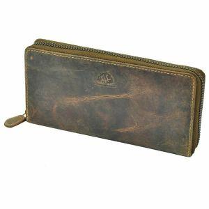 San Francisco - ladies wallet of vintage brown leather